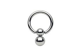 double ball closure pendulum captive bead ring