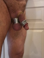 More ball rings and some rubber cock rings too