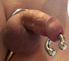 My 0 gauge Prince Albert with Intruder cock ring