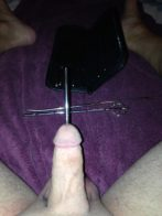 starting the stretching of cock head with new sounds