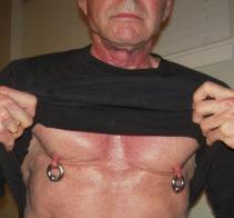 4ga Nipple rings front view