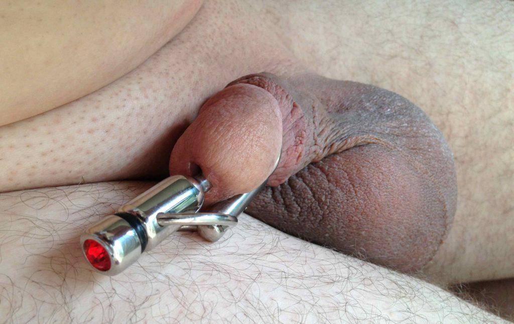 Penis plug with thru hole